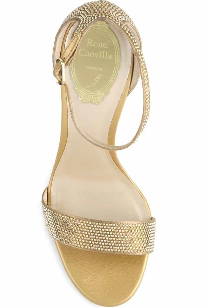 René Caovilla Crystal-Embellished Sandals