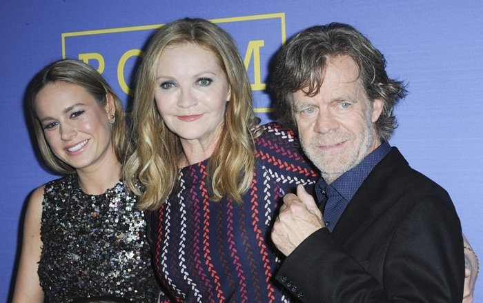 """Actress Brie Larson, actress Joan Allen, and actor William H. Macy arrive at the premiere of A24's """"Room"""""""