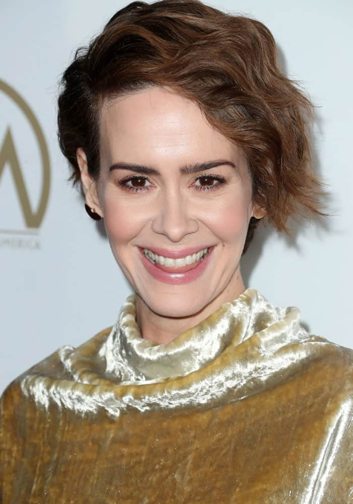 Sarah Paulson at the 2017 Producers Guild Awards held at the Beverly Hilton Hotel in Los Angeles