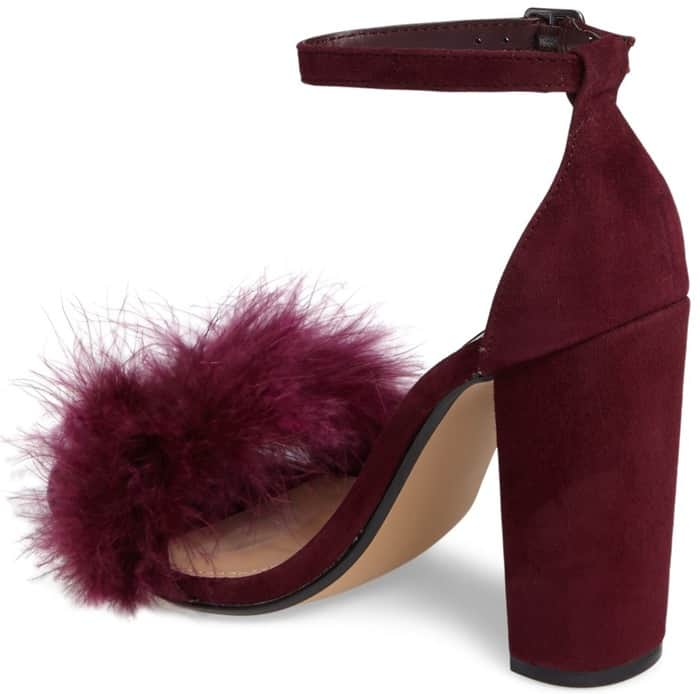 Fluffy Steve Madden Carabu Block-Heeled Sandals