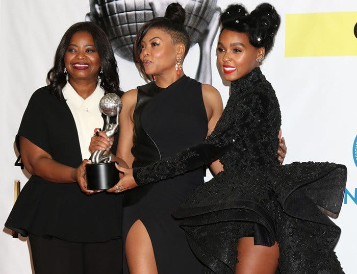 Taraji P. Henson poses with Octavia Spencer and Janelle Monae