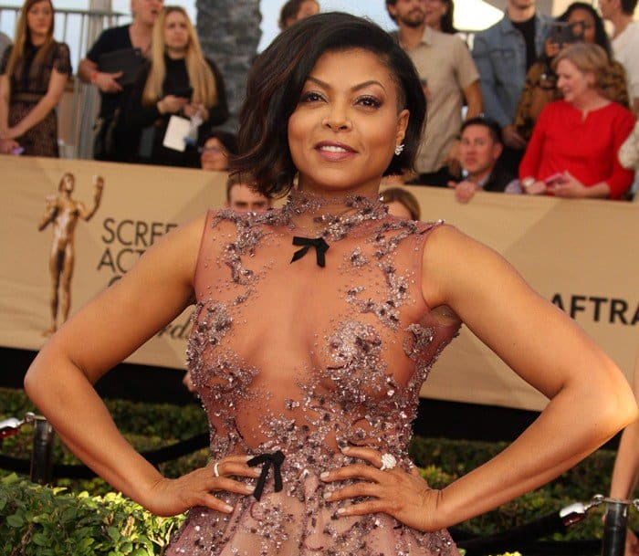 Taraji P. Henson accessorized with Nirav Modi jewelry