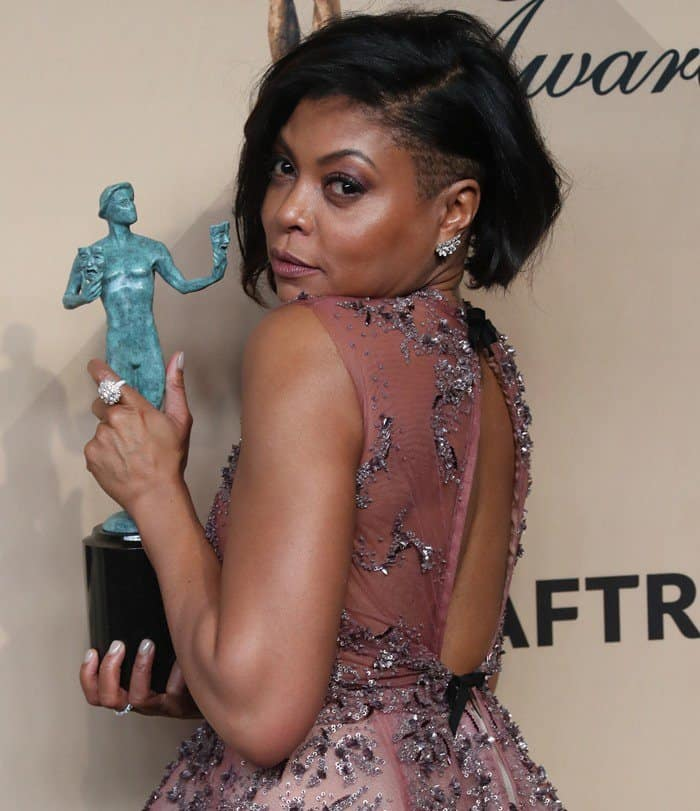 Taraji P. Henson's romantic beaded dress featured an open back