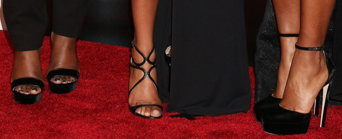Taraji P. Henson, Octavia Spencer, and Janelle Monae show off their sexy feet