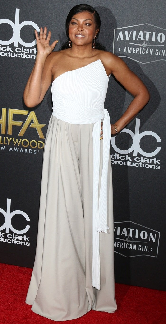 Taraji P. Henson looked gorgeous at the 2018 Hollywood Film Awards at the Beverly Hilton Hotel in Beverly Hills, California, on November 4, 2018
