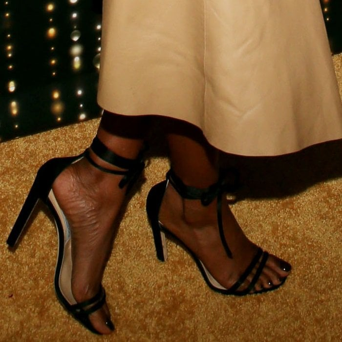Taraji P. Henson's bare feet in Jimmy Choo Carey sandals