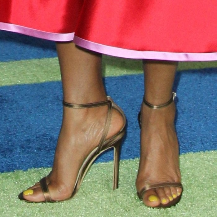 Taraji P. Henson's naked feet in Jimmy Choo Minny sandals