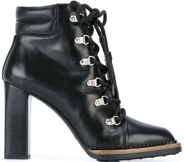 Tod's Mountain Laces Leather Ankle Boots