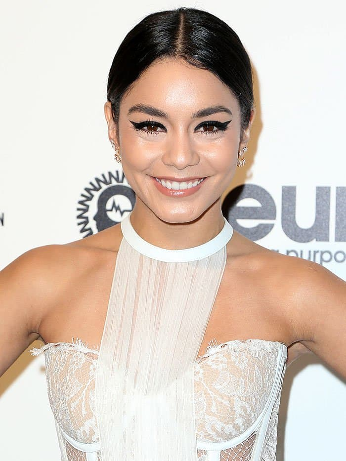 Vanessa Hudgens at the 2017 Elton John AIDS Foundation's Academy Awards Viewing Party in West Hollywood, California, on February 26, 2017