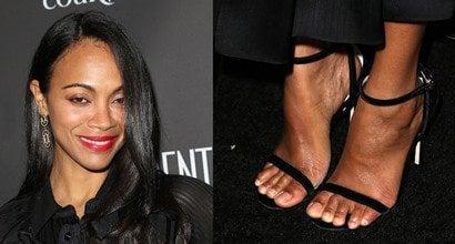 Saldana feet zoe Foot &