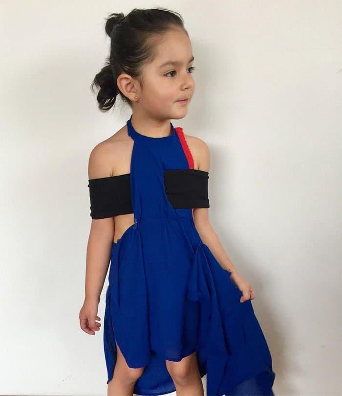3-year-old Ana Molano Peña dressed as Emma Watson