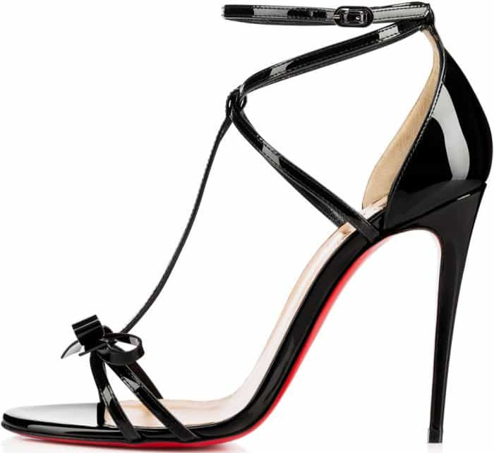 Christian Louboutin 'Blakissima' Sandals in Black Patent Leather