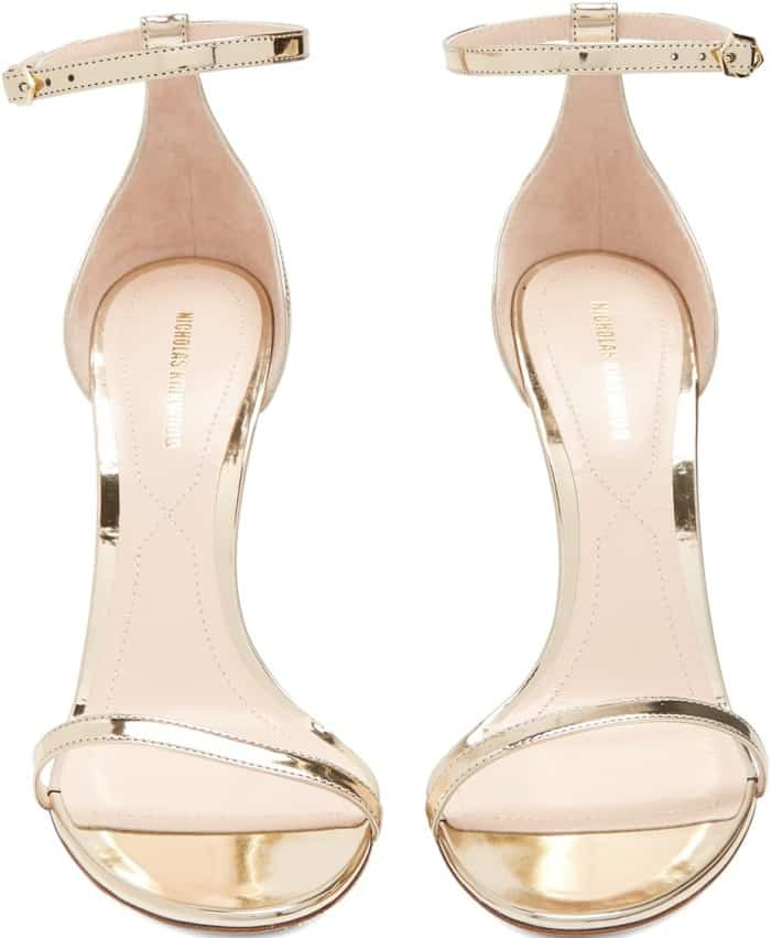 Nicholas Kirkwood 'Penelope' Sandals in Metallic Gold Leather