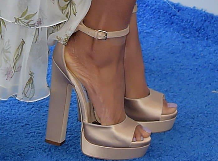 Taraji P. Henson wearingNew April platform heels from Jimmy Choo