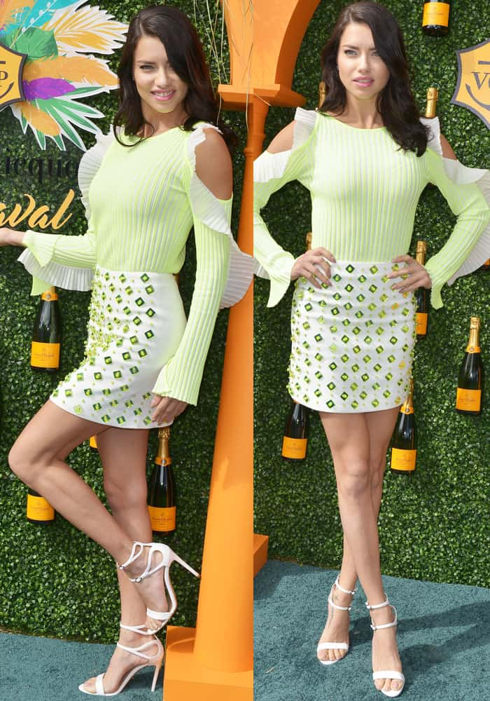 Adriana Lima at the third annual Veuve Clicquot Carnaval supporting the Perez Art Museum at Museum Park in Miami on March 4, 2017.