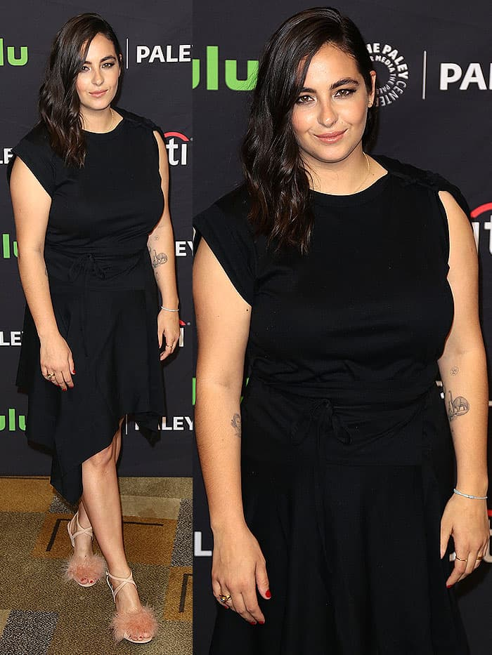 "Alanna Masterson at ""The Walking Dead"" presentation during the 34th annual PaleyFest at the Dolby theatre in Hollywood, California, on March 17, 2017."