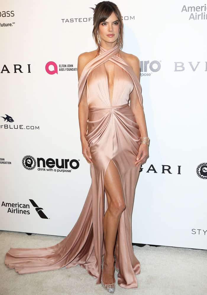Alessandra Ambrosio at the 25th annual Elton John AIDS Foundation's Academy Awards