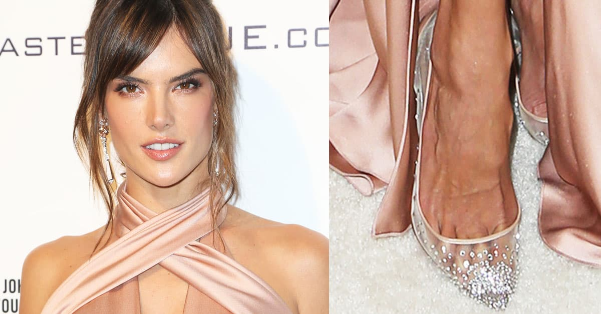 db5edc37c19d Alessandra Ambrosio Watches Oscars in Christian Louboutin  Follies Strass   Pumps