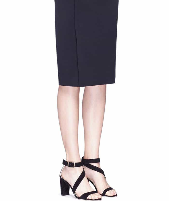 Alexander White 'Demi' Asymmetrical Strap Suede Sandals