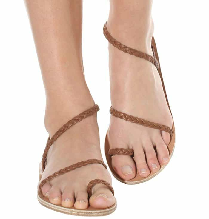 Ancient Greek Sandals Eleftheria braided flat sandals