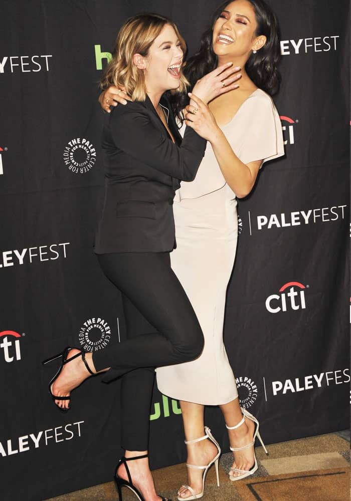 Ashley goofs off with real life BFF and co-star Shay Mitchell