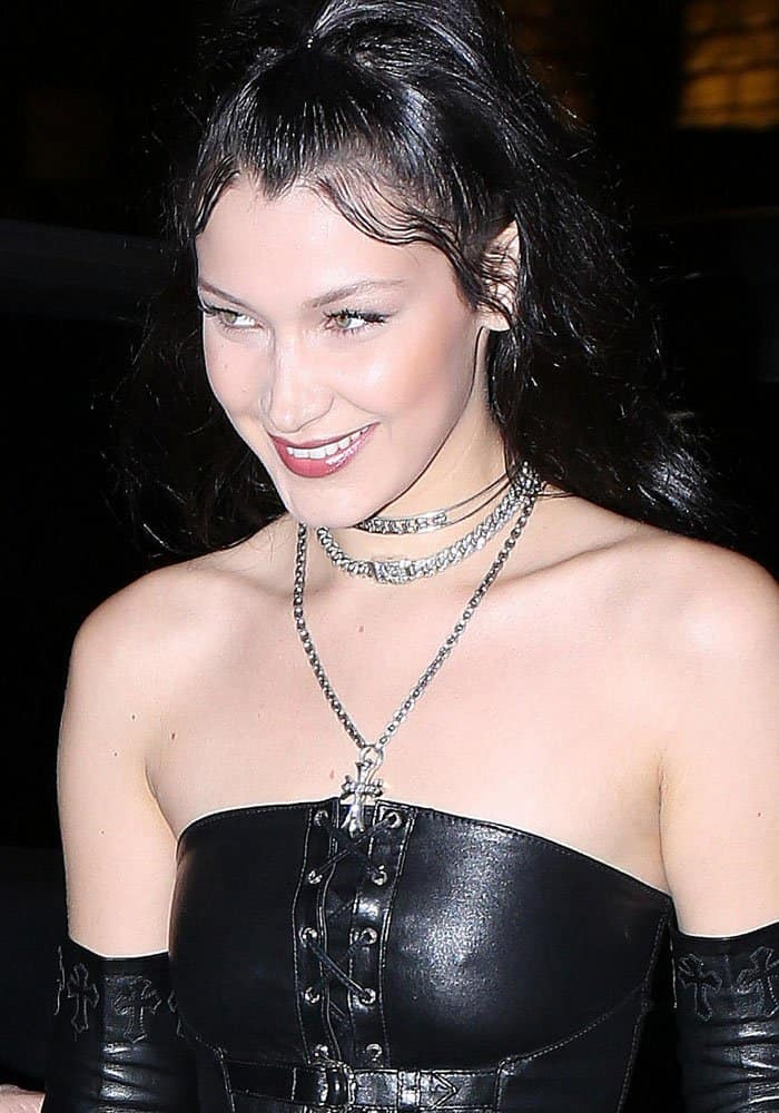 4cf285be611 Bella Hadid attends the Chrome Hearts x Bella Hadid collaboration launch as  part of Paris Fashion