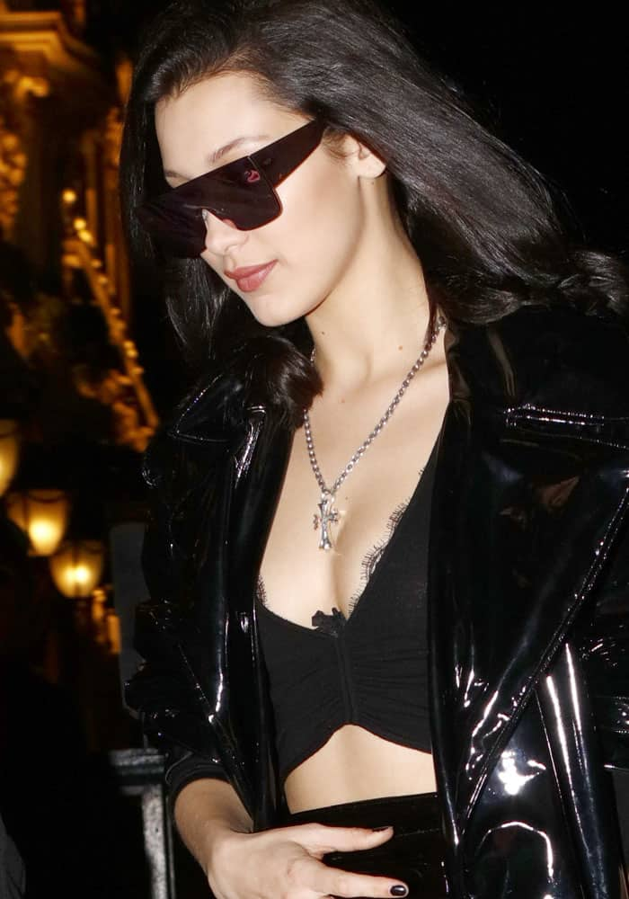8bf6650dd4 Bella Hadid Shows Off Chrome Hearts Bag in Giuseppe Zanotti Boots