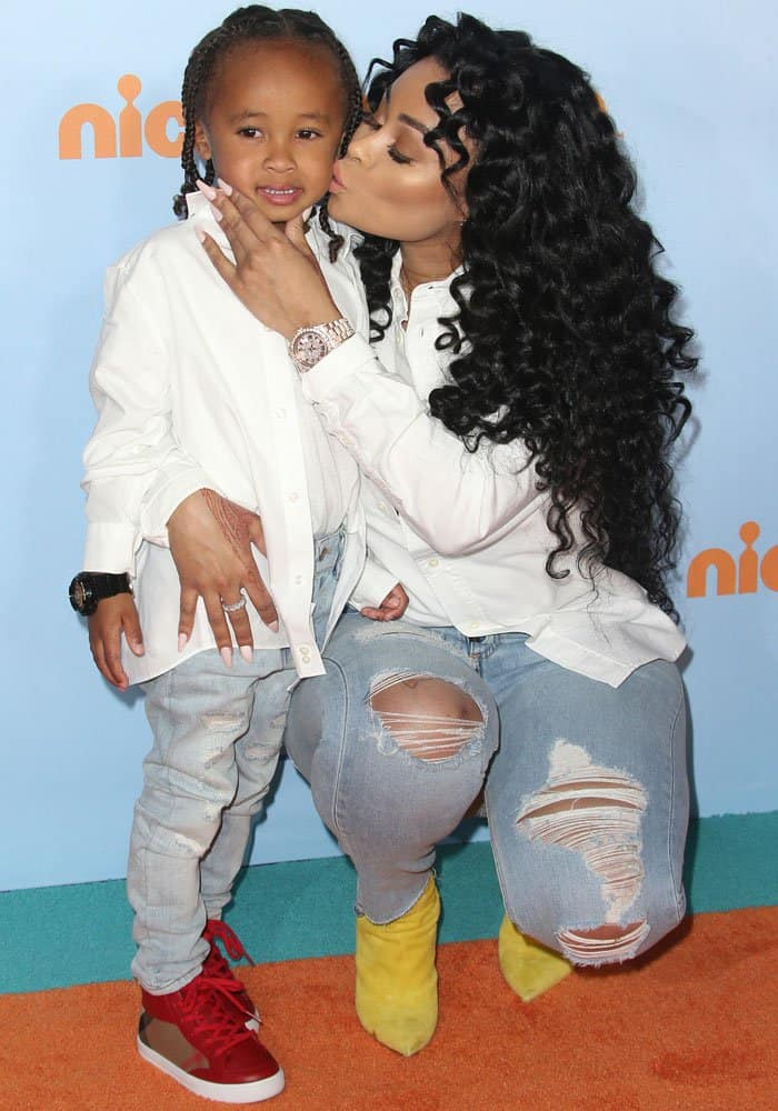 blac chyna at kids choice awards in christian louboutin so kate boots rh yournextshoes com
