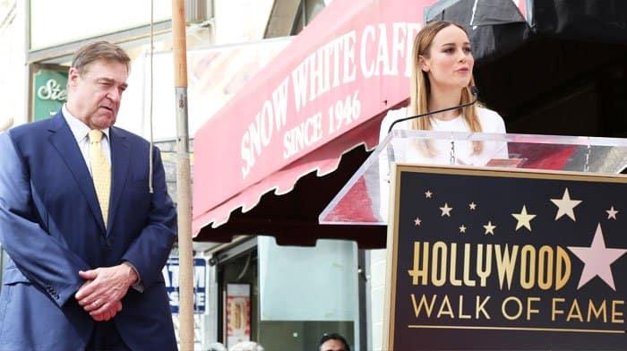 Brie gives a speech on behalf of her good friend, John Goodman