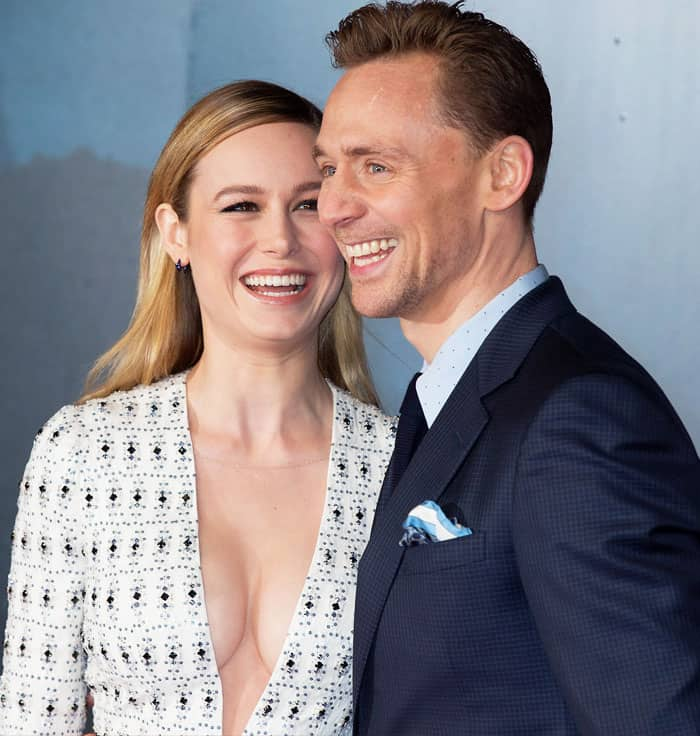 Brie looks absolutely smitten with her Kong: Skull Island co-star Tom Hiddleston