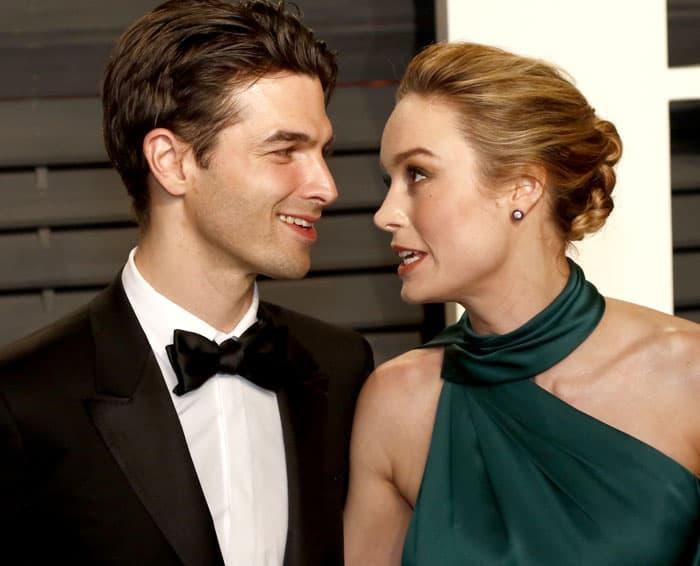Brie shares her Oscar evening with her fiancé Alex Greenwald