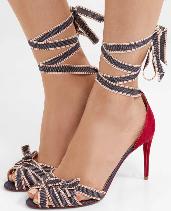 Christian Louboutin's 'Christeriva' stiletto sandals