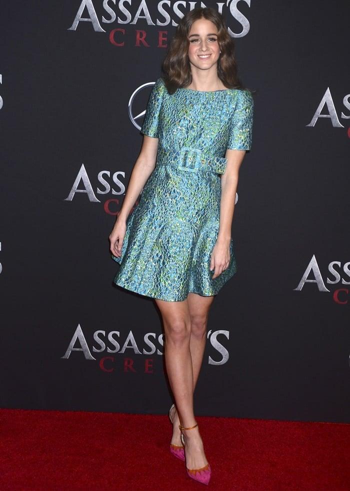 "Austrian actress Coco König wearing Christian Louboutin's ""Chapito Ho"" pumps"