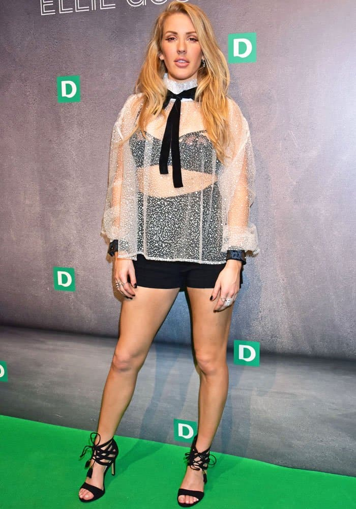 Ellie Goulding for Deichmann launch event at MC Motors Venue in London on February 28, 2017