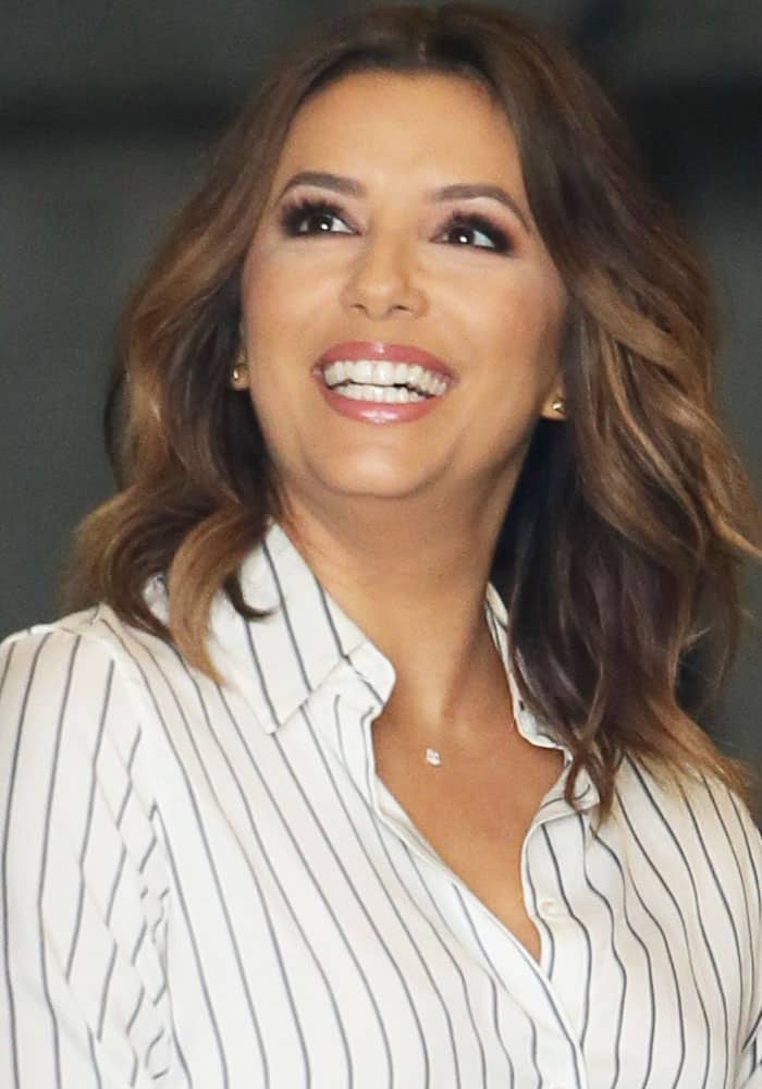 "Eva Longoria seen on set of Fox's new television show ""Type A"" in Los Angeles on March 24, 2017"