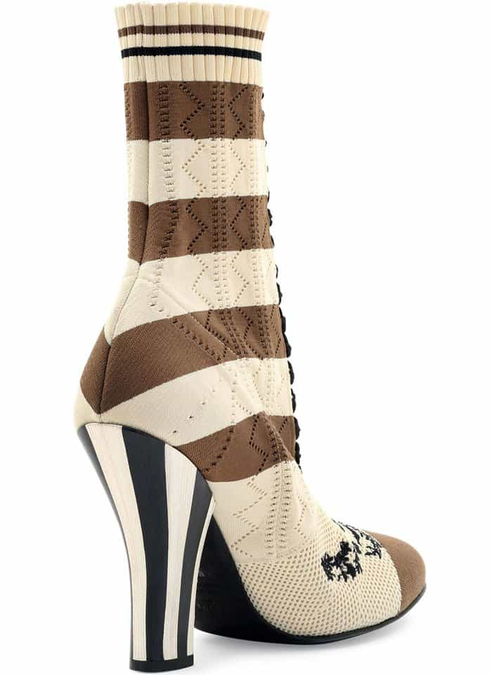 Fendi Striped Knit Sock Booties