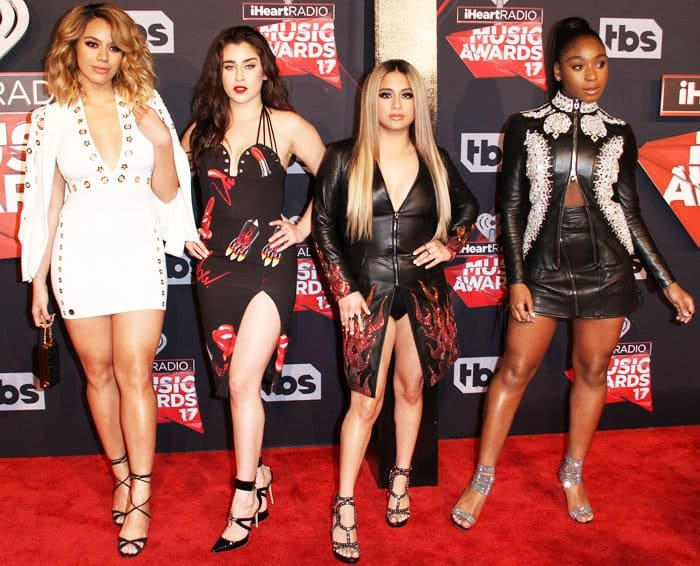 Fifth Harmony's Dinah Jane, Lauren Jauregui, Ally Brooke and Normani Kordei at the 2017 iHeart Music Awards at the Forumin Los Angeles on March 5, 2017