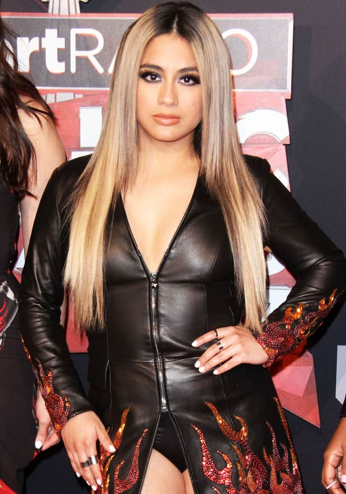 Ally decides to go for a leather-clad look at the awards
