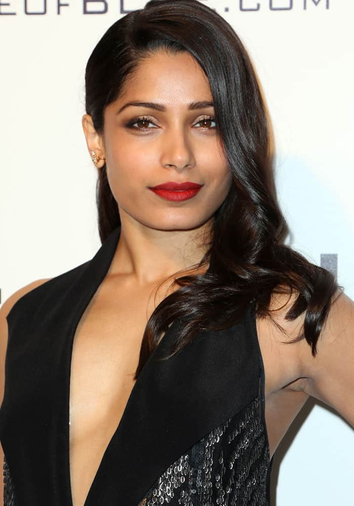 Freida Pinto at the 25th annual Elton John AIDS Foundation's Academy Awards viewing party