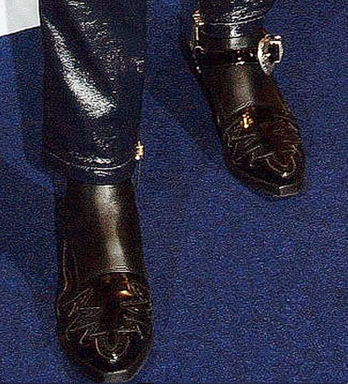 Gigi wore the TOMMYxGIGI high cowboy boot