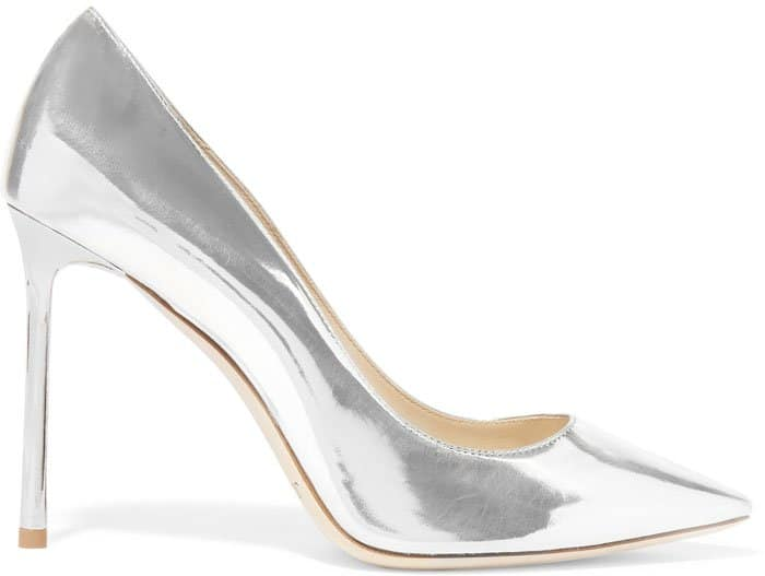 Jimmy Choo Romy Metallic Pumps