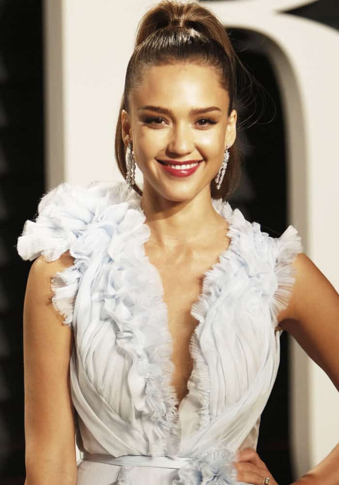 df30923a5d0 Jessica Alba at the Vanity Fair Oscar Party at the Wallis Annenberg Center  for the Performing