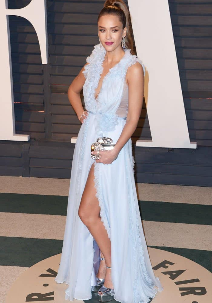 Jessica Alba at the Vanity Fair Oscar Party at the Wallis Annenberg Center for the Performing Arts