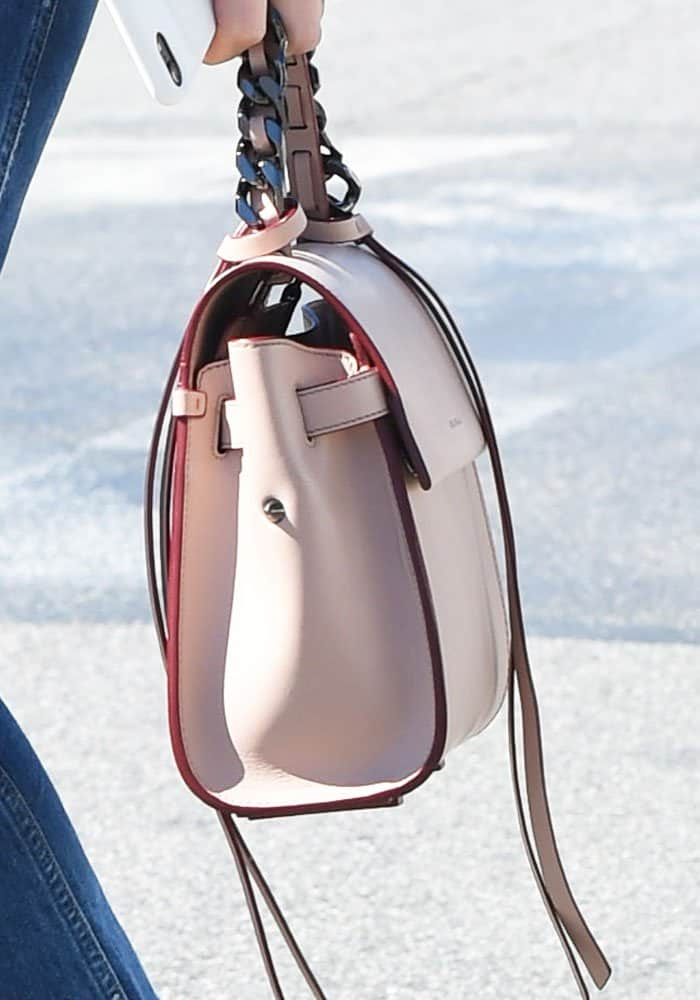 Jessica's on-the-go bag, the Angel tote from Elena Ghisellini