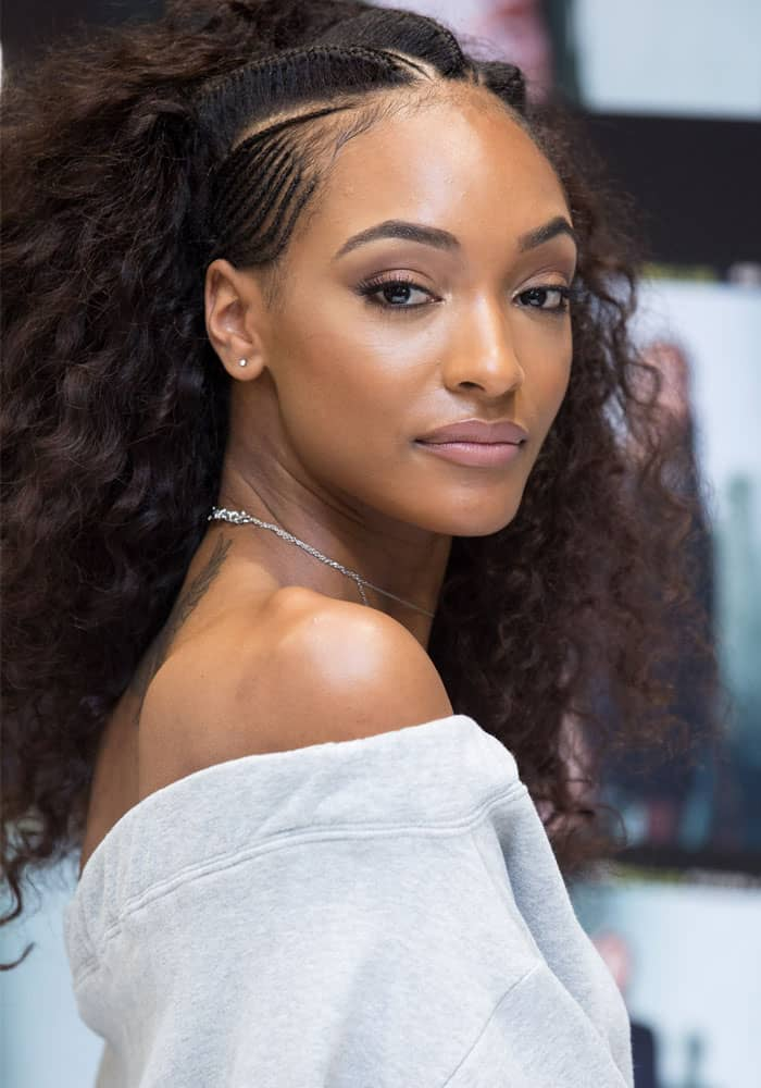 Jourdan Dunn celebrates the launch of the Lon Dunn + MISSGUIDED Collection at Missguided's Westfield Store in London on March 11, 2017