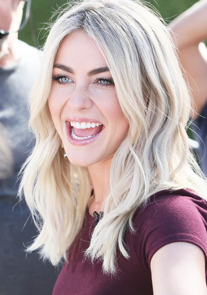 "Julianne Hough seen at Universal Studios for the television show ""Extra"" on March 8, 2017"