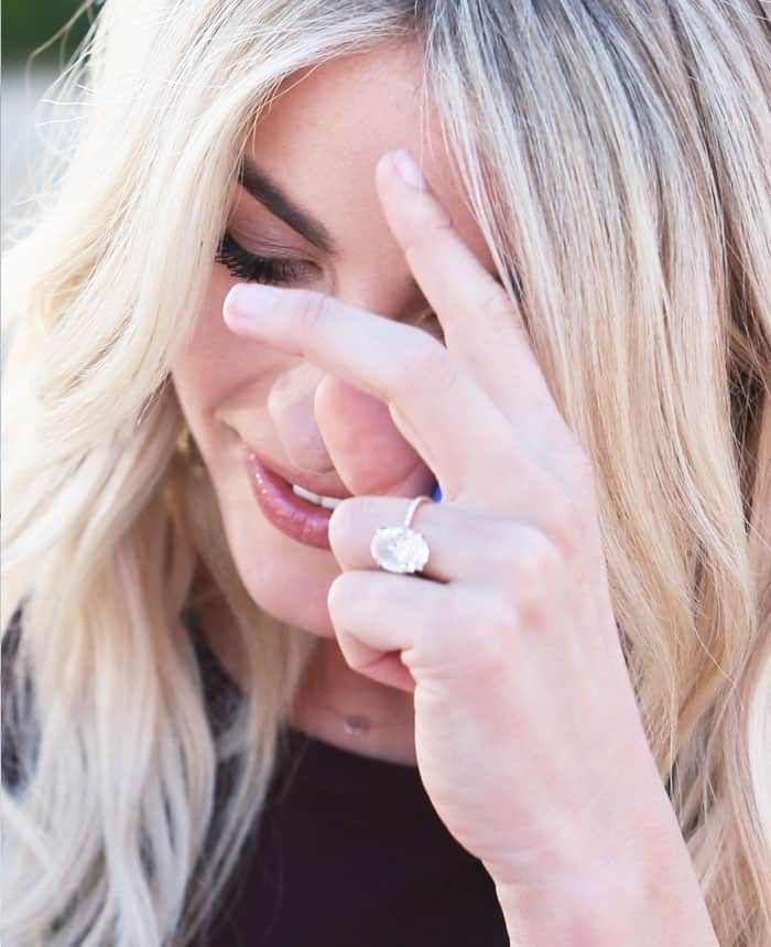 Julianne shows off her enormous engagement ring from fiancé Brooks Laich