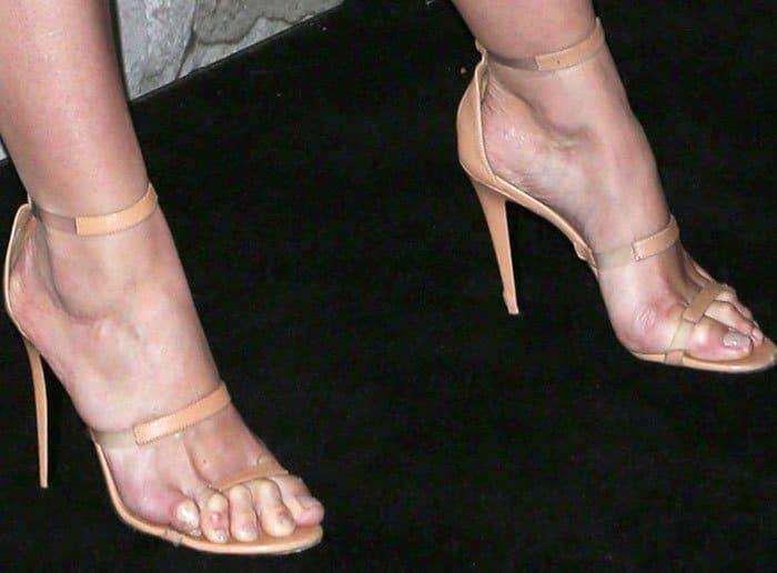 Katie Holmes in Tamara Mellon 'Frontline' sandals