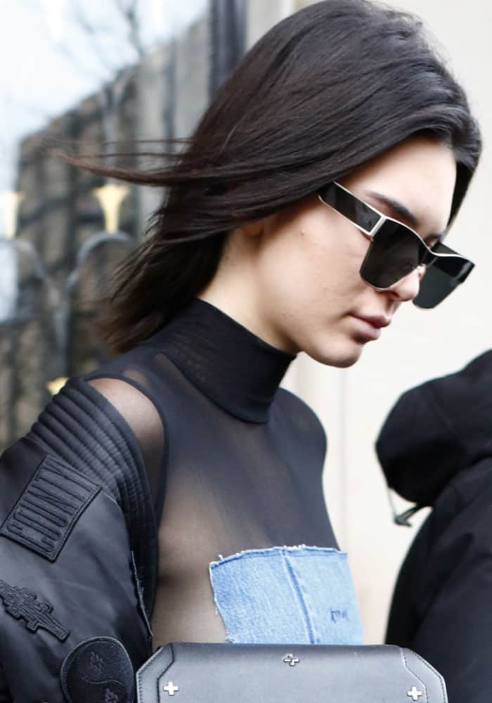 Kendall Jenner out and about in Paris on March 6, 2017
