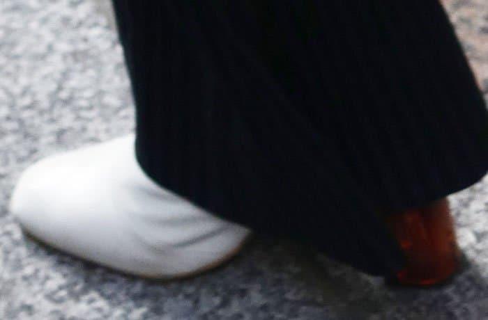 Kendall wears her latest favorite boot, the Kurt Geiger Strut